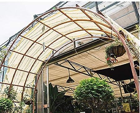 JHNEA 85/% Panno Parasole con Occhielli 3x3ft Greenhouse Telone Ombreggiante Protezione Raggi UV Sun Panno Parasole Telone Ombreggiante Frangivista pour Balcon Jardin,Beige/_1x1m
