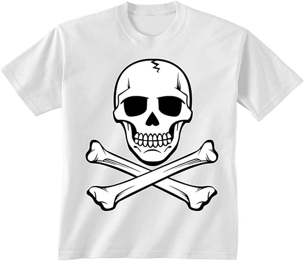 Pirate skull design Childrens Kids t-shirt 3-13 years print not transfer