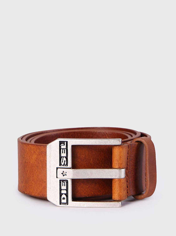 Diesel Mens Bluestar Leather Belt