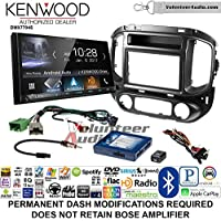 Volunteer Audio Kenwood DMX7704S Double Din Radio Install Kit with Apple CarPlay Android Auto Bluetooth Fits 2015-2017 Chevrolet Colorado, GMC Canyon