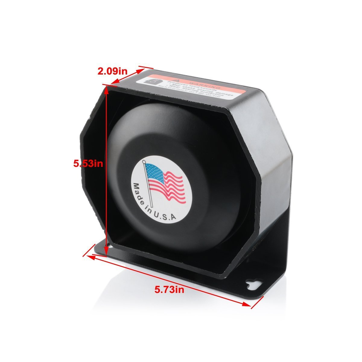 DENG 200W 8Sound Loud Car Warning Alarm Police Fire Siren Horn PA Speaker CJB by DENG (Image #2)