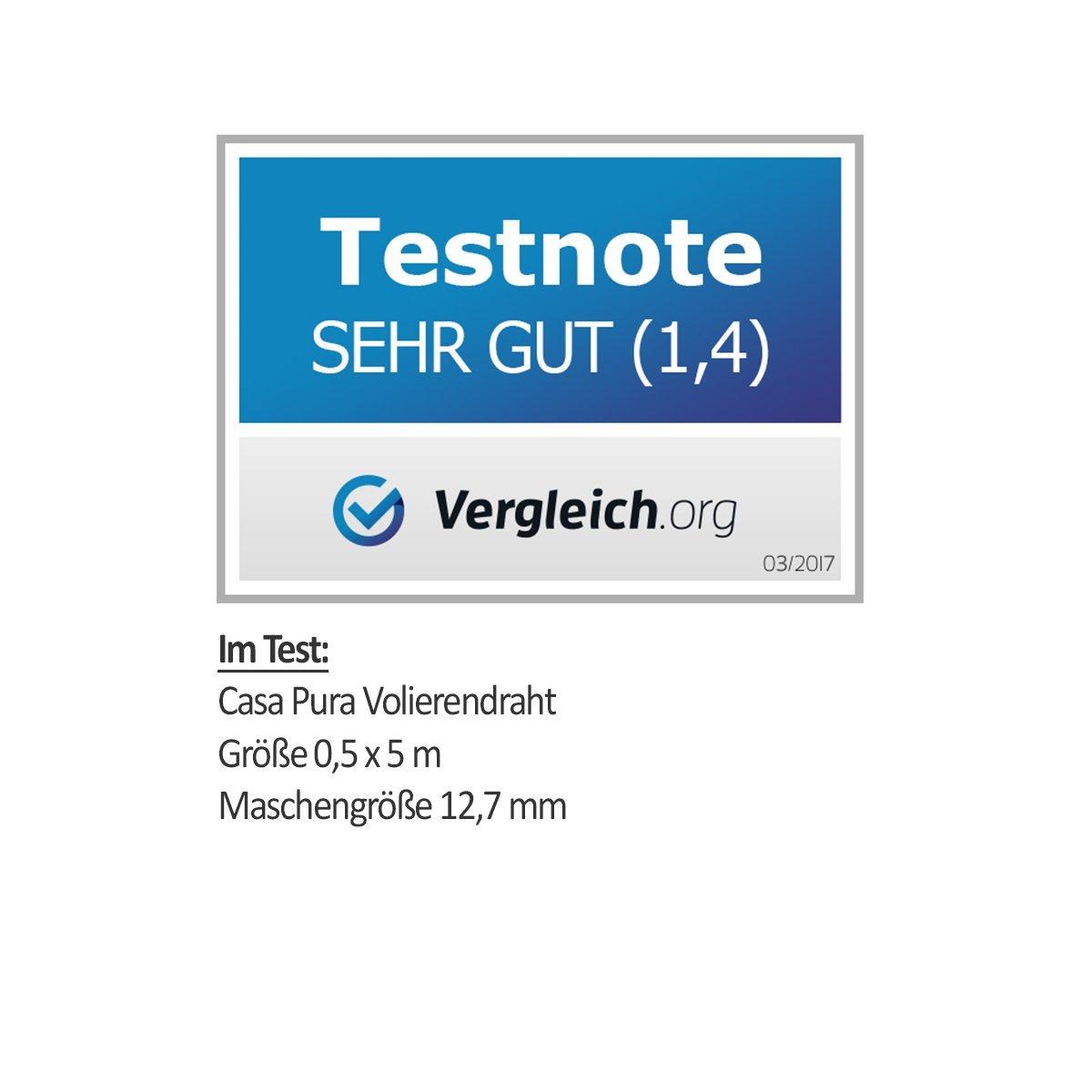 casa pura® Drahtgitter | Testnote 1,4 | 4-Eck-Geflecht Drahtzaun ...