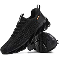 Amsion Men's Running Shoes Non Slip Fashion Sneakers Breathable Mesh Soft Sole Casual Athletic Lightweight Walking Shoes