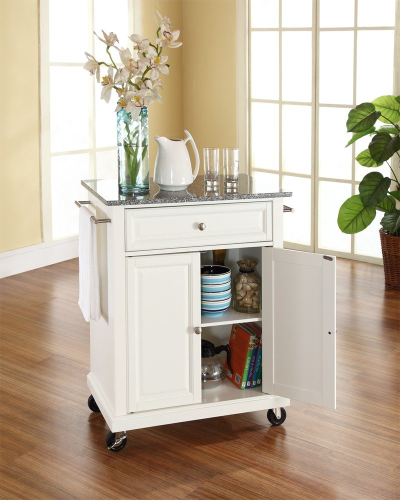 Crosley Kitchen Cart Granite Top Amazoncom Crosley Furniture Solid Granite Top Portable Kitchen