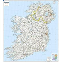 Ireland - Michelin rolled & tubed wall map Encapsulated (Michelin Wall Maps)