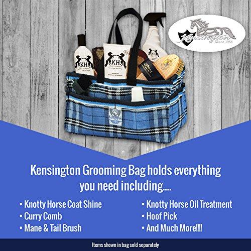 Kensington Pferd Fellpflege Tasche–Handlich aufrecht verstauen in Vibrant Plaid Designs–sehr stabil mit zahlreichen Staufächern– dIAGAFoM