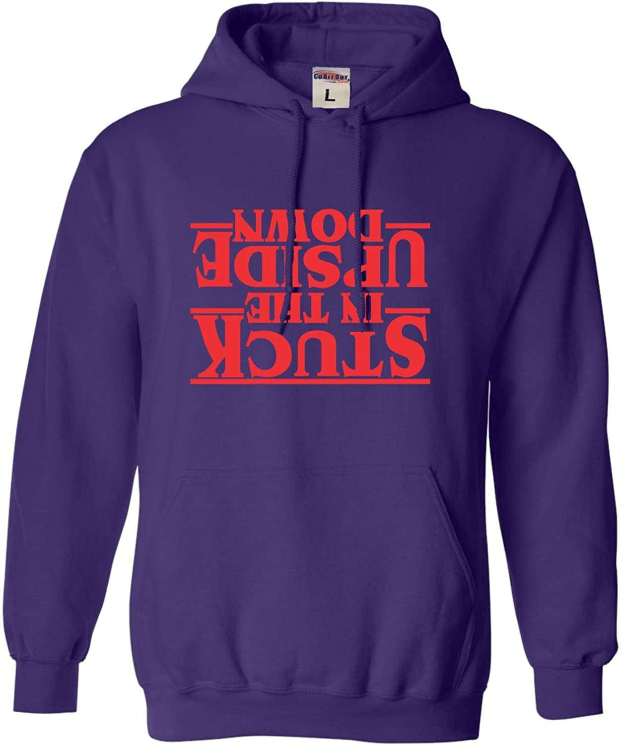 Go All Out Adult and Youth Stuck in The Upside Down Sweatshirt Hoodie