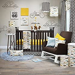 Sweet Potato Traffic Jam, Boy's 3 Piece Crib Set with Quilt cars