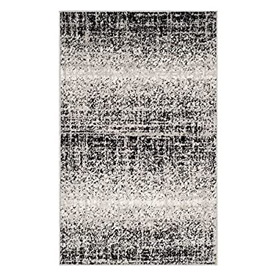Safavieh Adirondack Collection ADR116A Silver Black Modern Abstract Distressed Runner -  - living-room-soft-furnishings, living-room, area-rugs - 61RirkYUdgL. SS400  -