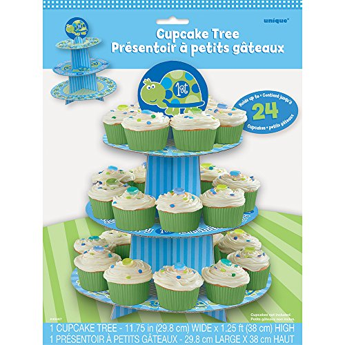 Cardboard Turtle 1st Birthday Cupcake Stand