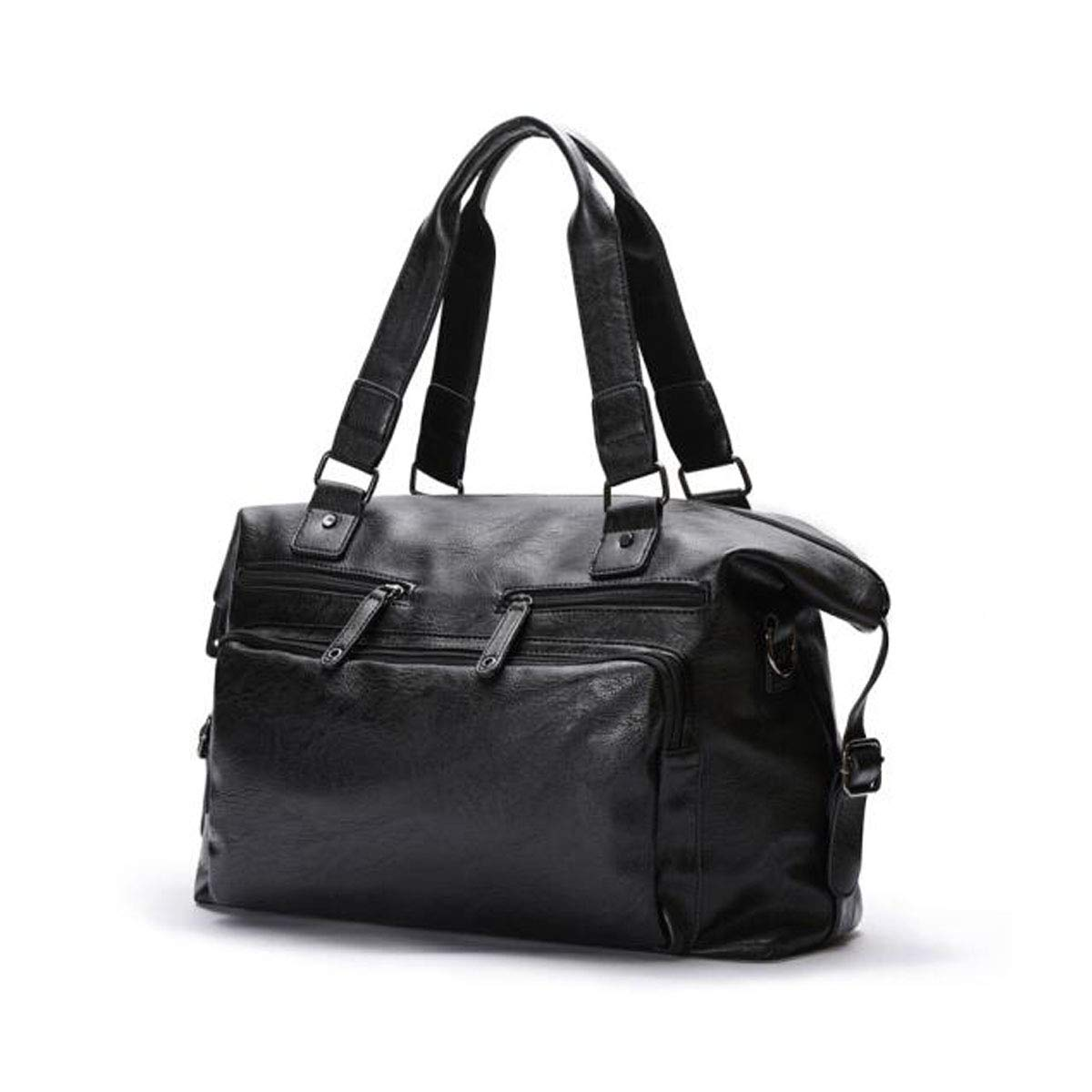 Black Size: 431833cm Wear Resistant Short-Distance Business Travel Shoulder Bag Large-Capacity Handbag Qiaoxianpo01 Briefcase Color : Black