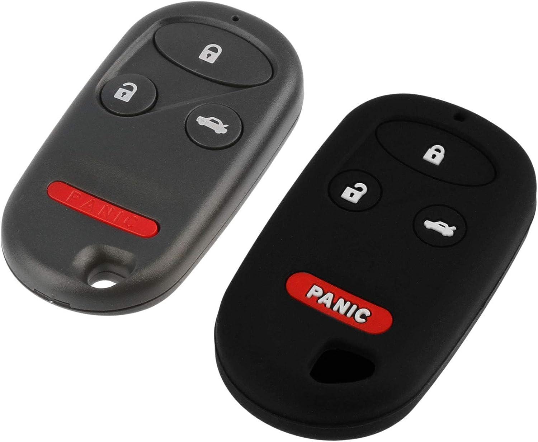 KOBUTAH2T 1998-2002 Honda Accord Key Fob Keyless Remote fits 1999-2003 Acura TL Protective Cover
