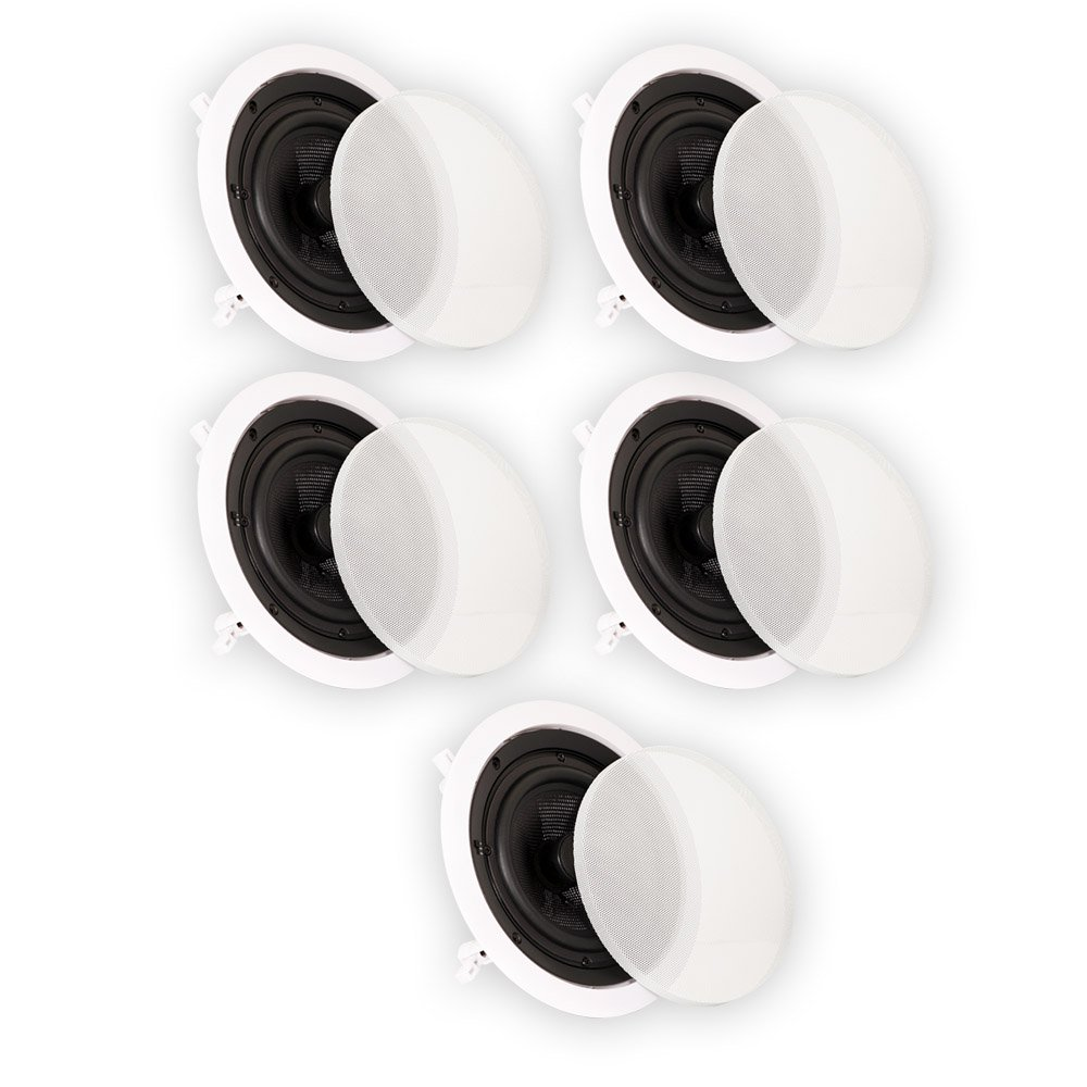 Theater Solutions TSS6C In Ceiling 6.5'' Speakers Surround Sound Home Theater Deluxe 5 Speaker Set TSS6C-5S by Theater Solutions