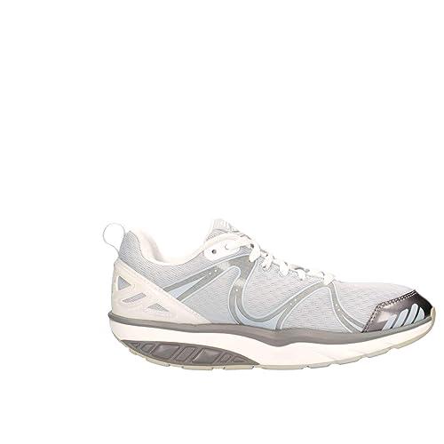 Mbt Mujer Afiyawhite Blanco Tela Zapatillas: Amazon.es: Zapatos y complementos