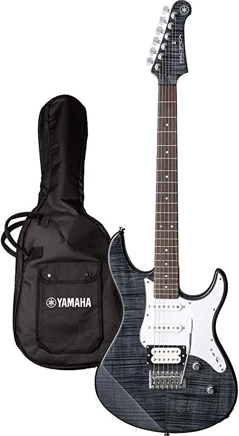 Yamaha PAC212VFM Electric guitar Sólido 6strings Negro, Blanco ...