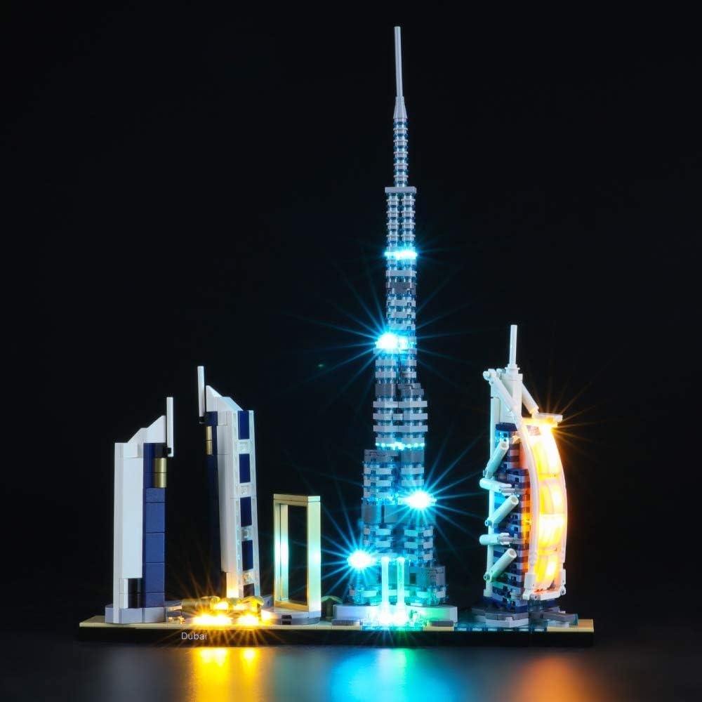 BRIKSMAX Kit de Iluminación Led para Lego Architecture Dubai,Compatible con Ladrillos de Construcción Lego Modelo 21052, Juego de Legos no Incluido: Amazon.es: Juguetes y juegos