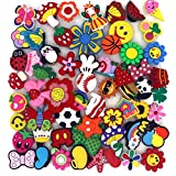 Trasfit 60 Pieces Shoes Charms for Crocs & Jibbitz Shoes, Wristband Bracelet Party Supplies, Fun and Exciting Decorations