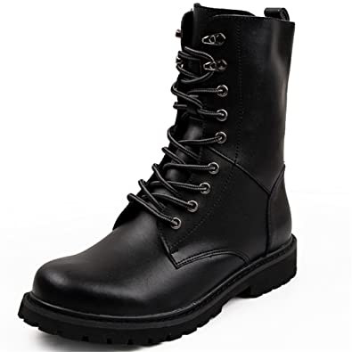 Amazon.com | DUODUO Men's 2601 Genuine Leather Combat Boots ...