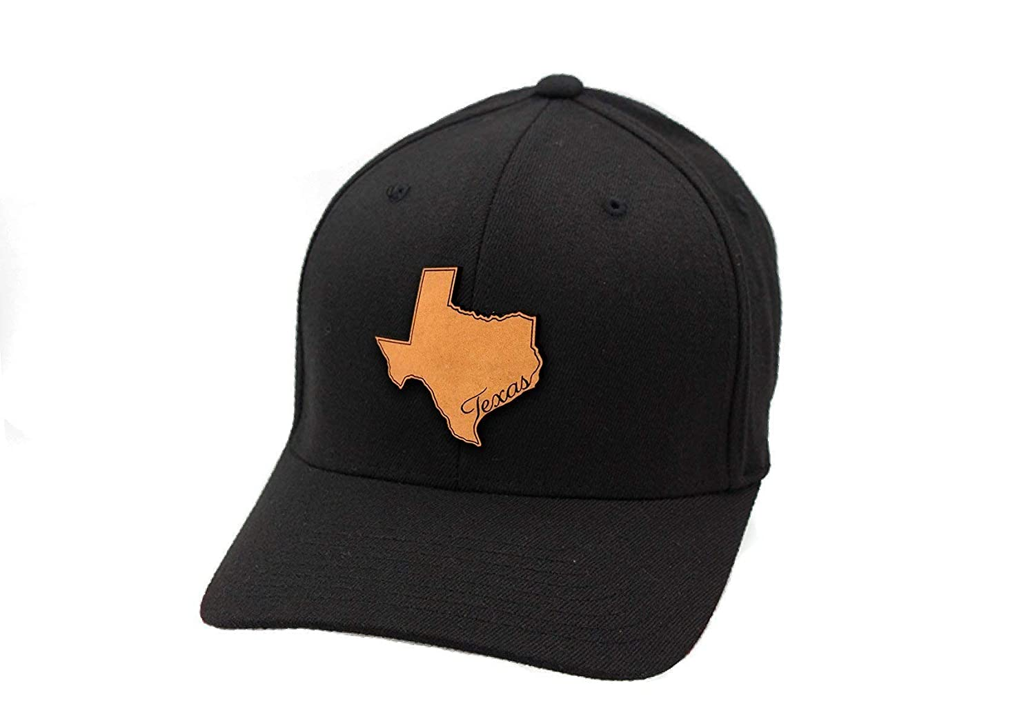 d41a2c79 Branded Bills 'The Texan' Leather Patch Hat Flex Fit at Amazon Men's  Clothing store:
