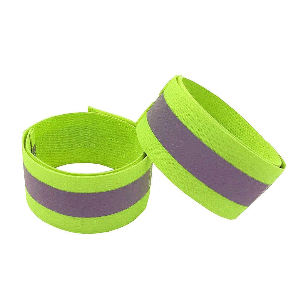 Marico Nahum 2 STÜCKE Bänder von Reflexstreifen für Handgelenk, Läufer Handgelenk Reflektor Band für Männer und Frauen, Reflektierende Laufbekleidung für Nachtlauf Radfahren Wandern
