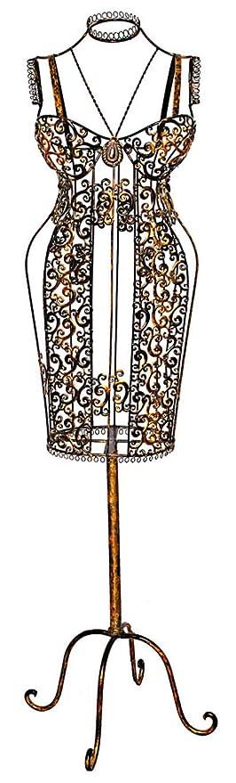 Schneiderpuppe Metall Schaufensterpuppe Kleiderständer Schneiderbüste antik Stil Antiquitäten & Kunst