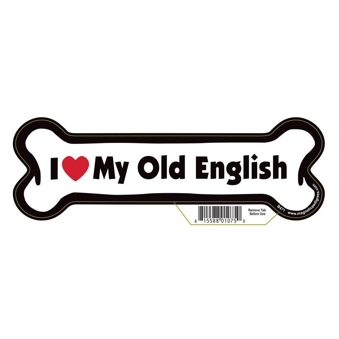 Old English Dog Bone Magnet