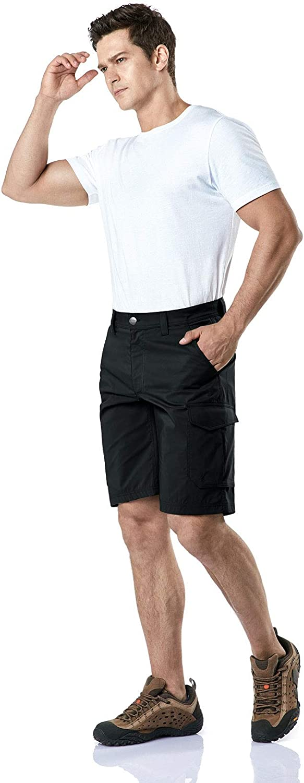 Quick Dry Fishing Shorts CQR Mens Hiking Tactical Shorts Lightweight Outdoor Rip-Stop EDC Assault Cargo Short