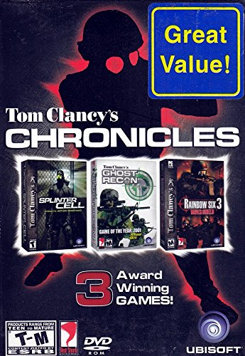 Ubisoft Tom Clancy's PC DVD Triple Game Pack (Splinter Cell + Ghost Recon + Rainbow Six 3 Raven Shield) (Tom Clancys Rainbow Six 3 Raven Shield)