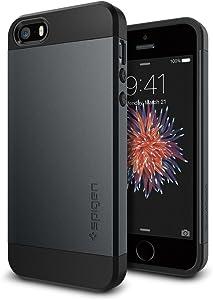 Spigen Slim Armor Designed for Apple iPhone 5S Case (2013) / Designed for iPhone SE Case (2017) / Designed for iPhone5 Case (2012) - Metal Slate