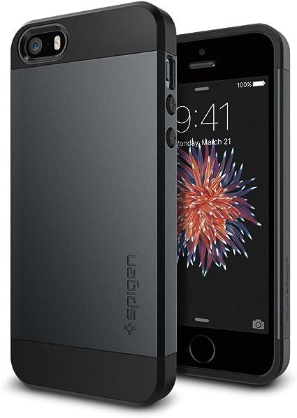 Spigen Slim Armor Designed for iPhone 5S Case (2013) / Designed for iPhone SE Case (2017) / Designed for iPhone5 Case (2012) - Metal Slate
