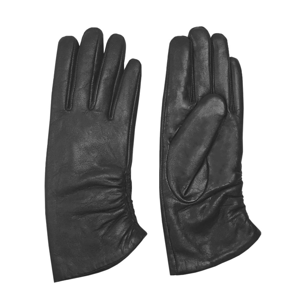 MoDA Women's Ms. Rotterdam Genuine Leather Fully Lined Winter Gloves C0160-BK-L