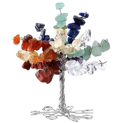 AITELEI Figura decorativa de árbol de la suerte, con piedra de ...