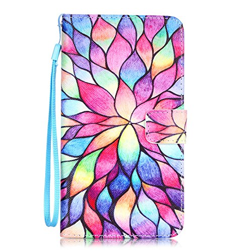 Price comparison product image LG Stylo 2 V Case, LG Stylo 2 Case, JanCalm [Wrist Strap Design] [Kickstand] Pattern Premium PU Leather Wallet [Card/Cash Slots] Flip Cover for LG Stylo 2 / LG Stylo 2 V / LG Stylus 2 (Water lily)