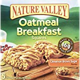 Nature Valley Oatmeal Squares Cinnamon Brown Sugar Flavour, 5-Count, 175 Gram