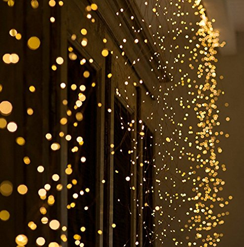 Yaoijin 240 LED 14pcs Fairy String Lights Lamp for Xmas Tree Holiday Wedding Party Decoration Halloween Showcase Displays Restaurant or Bar and Home Garden by Yaoijin