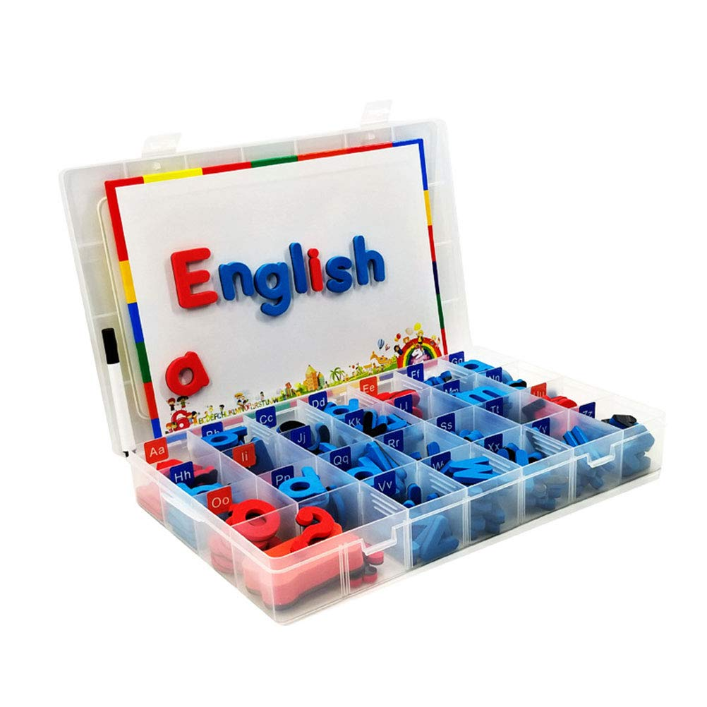 HOMNIVE Classroom Magnetic Letters - 104pcs Foam Alphabet Letters - Double-Side Magnet Fun Alphabet Kit - Learning Educational Toys for Childs Kids