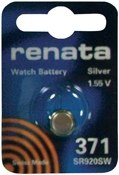 Silver Oxide Button-Cell Battery 371 by Renata