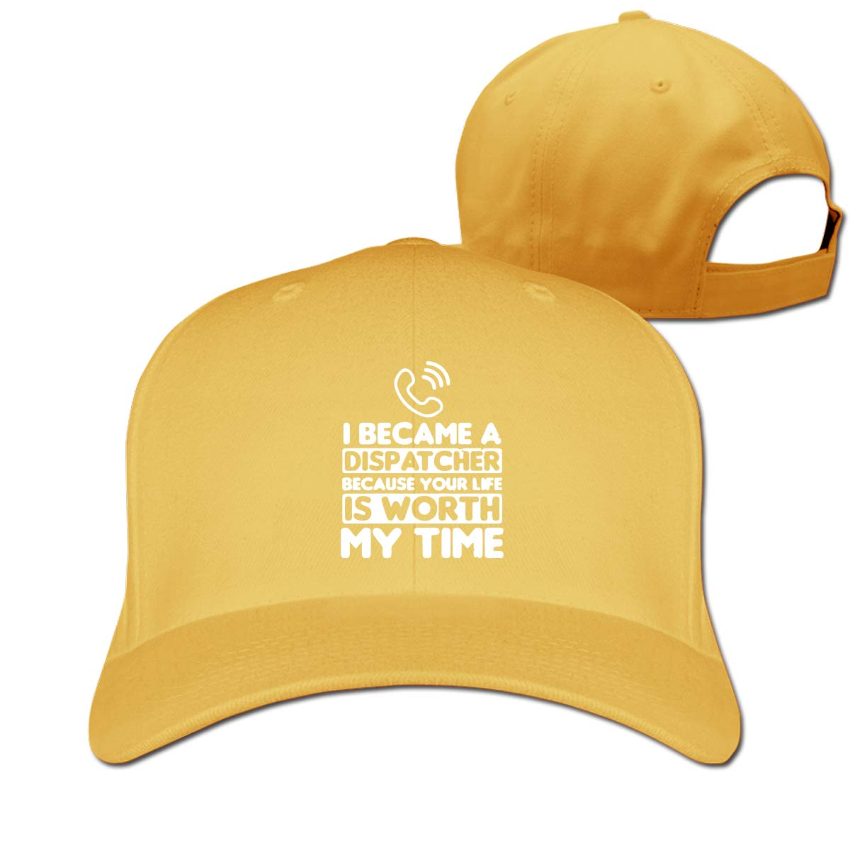 911 Your Life is Worth My Time Unisex Pure Color Baseball Cap Classic Adjustable Dad Hat