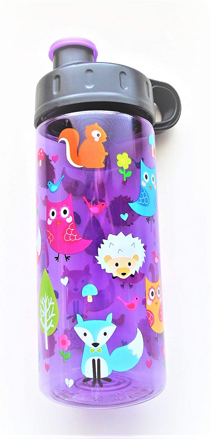 Cool Gear Fox/Owl 16 oz/473 mL Sullivan Bottle Purple/Assorted Colors Water Bottle