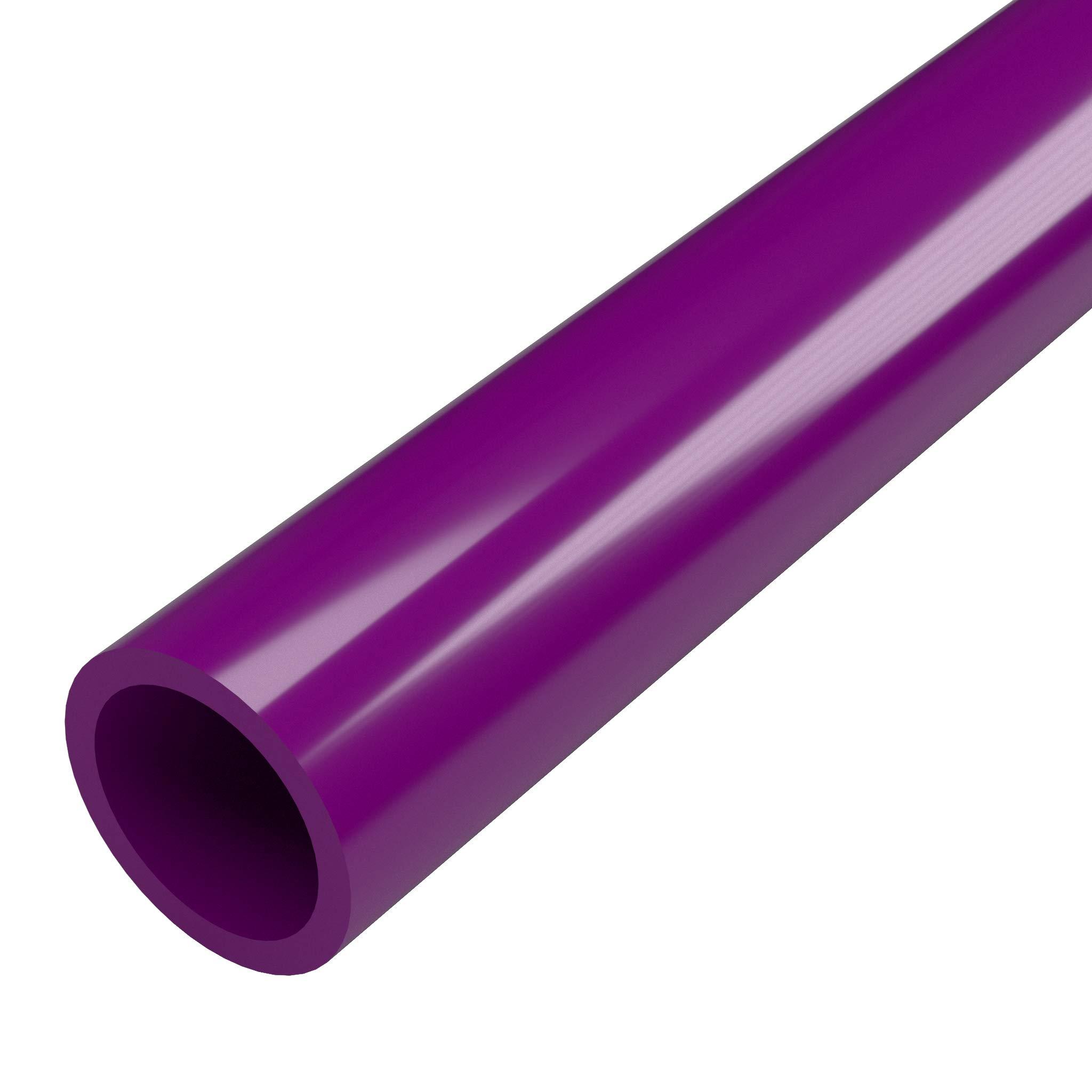 FORMUFIT P001FGP-PU-5 Schedule 40 PVC Pipe, Furniture Grade, 5', 1'' Size, Purple by FORMUFIT