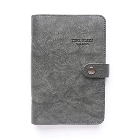 Espiral de cuero 6 agujeros cuadernos cuadernos útiles ...