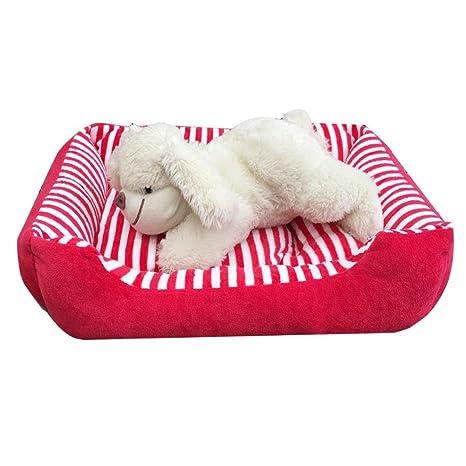 Weiwei Cama de Perro Gato de Peluche Kennel Corto Nido Mascotas camada Mat