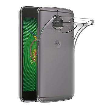 AICEK Funda Moto G5S Plus, Transparente Silicona Fundas para Motorola Moto G5S Plus Carcasa Silicona Funda Case (5.5