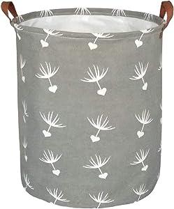 BOOHIT Storage Baskets,Canvas Fabric Laundry Hamper-Collapsible Storage Bin with Handles,Toy Organizer Bin for Kid's Room,Office,Nursery Hamper, Home Decor (Dandelions)