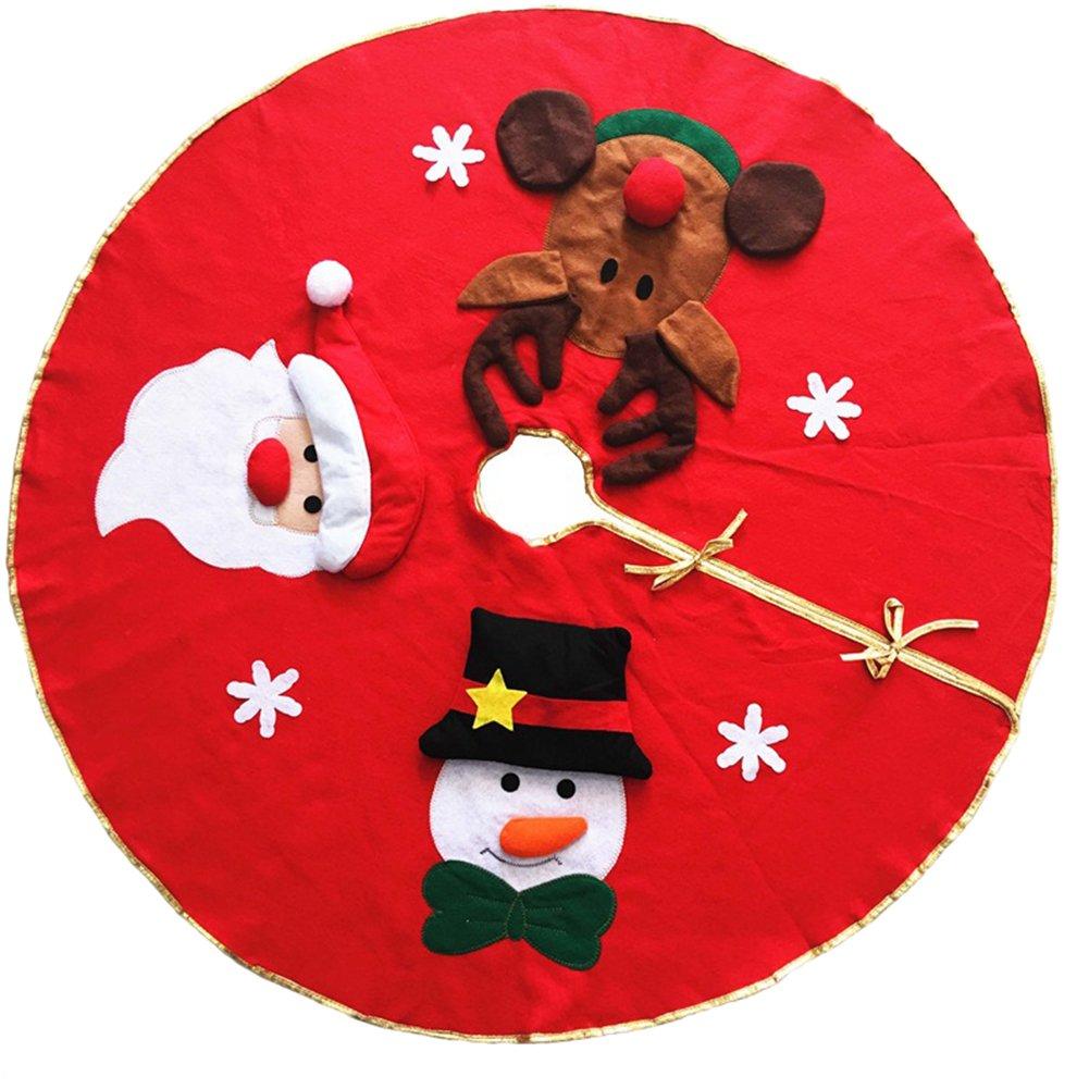 Leisial™ Falda del Árbol Navidad Muñeco de Nieve Papá Noel para Decoraciones de Navidad Fiesta Hogar Hotel Centro Comercial