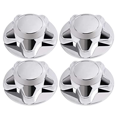 "G-PLUS 4 Pcs Chrome Wheel Center Hub Cap 7"" Fits for Ford F150 Expedition Rim 1997 1998 1999 2000 2001 2002 2003: Automotive"