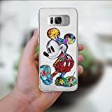 DISNEY COLLECTION Phone Case for Samsung Galaxy S8 Transparent Crystal Clear Side Cover Shockproof Anti-Scratch Protective Shell - Mickey Mouse Disney
