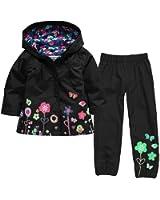 LZH Girl Baby Kid Waterproof Hooded Coat Jacket Outwear Suit Raincoat Hoodies with Pants
