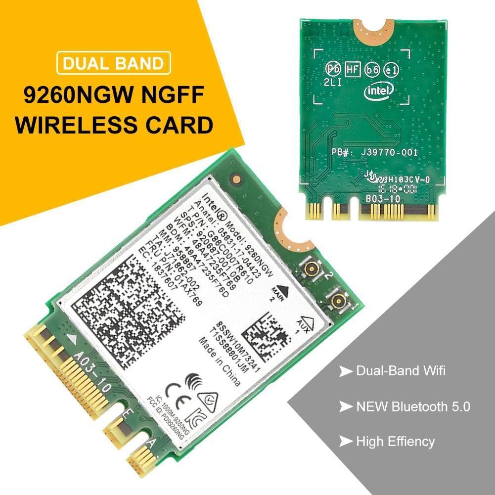 VENTDOUCE 9260NGW - Tarjeta WLAN NGFF inalámbrica (1,73 Gbit/s, Doble Banda, Bluetooth 5.0)