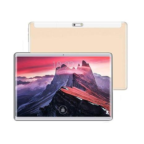 Tablet 10 Pulgadas Fire HD| 10.1Tablets PC(3G, WiFi, Octa Core, 4 GB de RAM, 64 GB de ROM, Android 7.0, GPS, Dual SIM Card, 2560X1600 IPS) , oro
